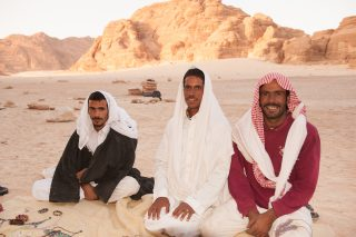 Camel trekking through South Sinai